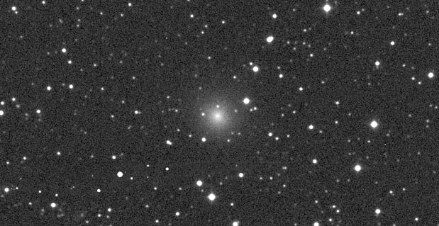 Comet NEOWISE (C/2016 U1) still looks much as it did when this photo was taken on December 9th — a round ball of fuzz with a brighter condensation at center. Time is running short to view the comet!