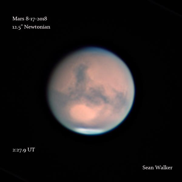Mars on Aug. 17, 2018
