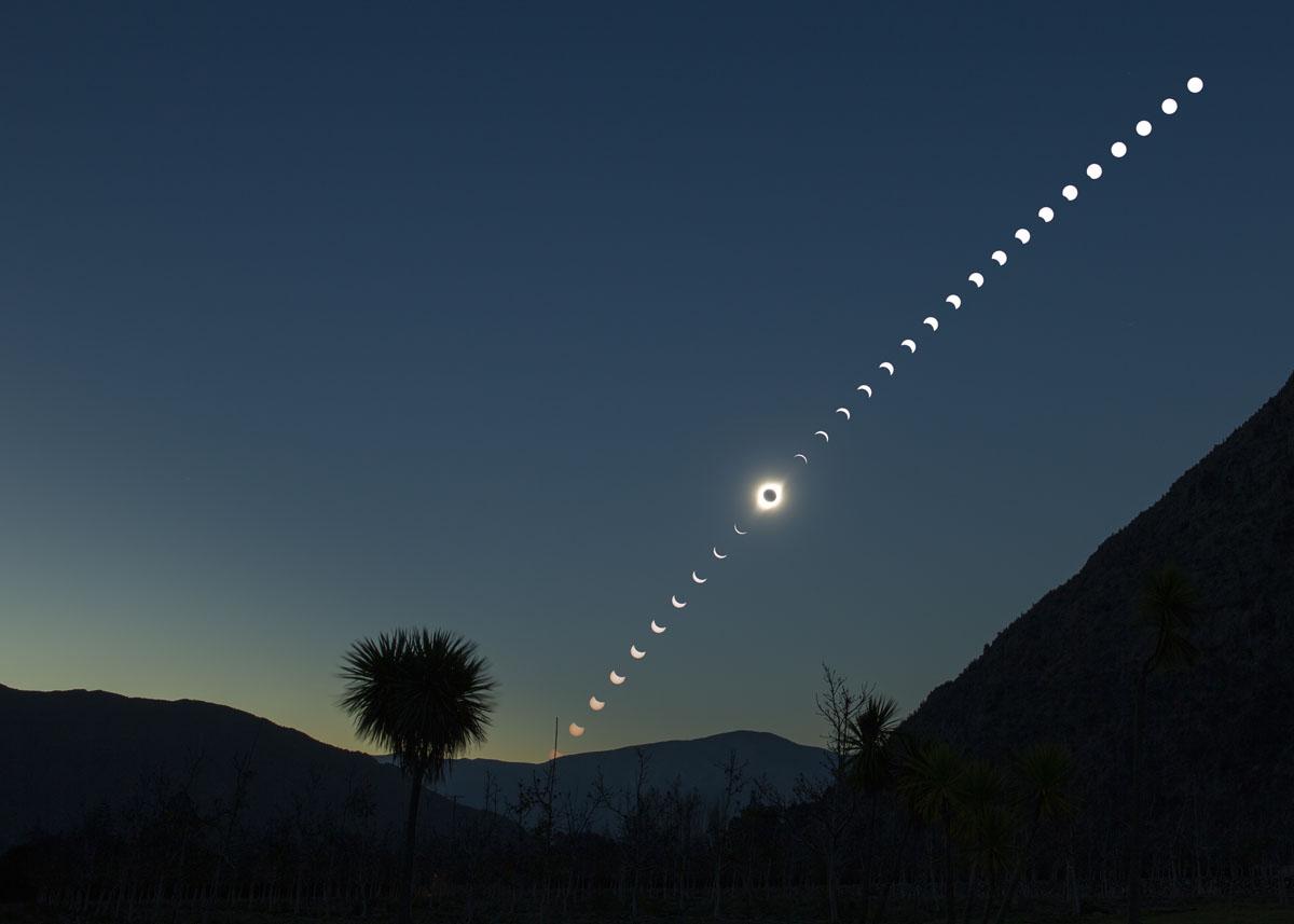 2019 solar eclipse time lapse