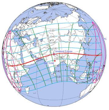 2020 annular eclipse map
