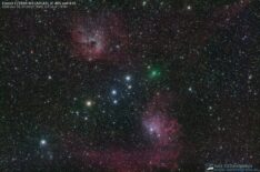 Comet C/2020 M3 ATLAS, IC 405 and IC 410
