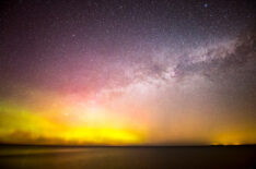 Milky Way and Aurora over Lake Huron