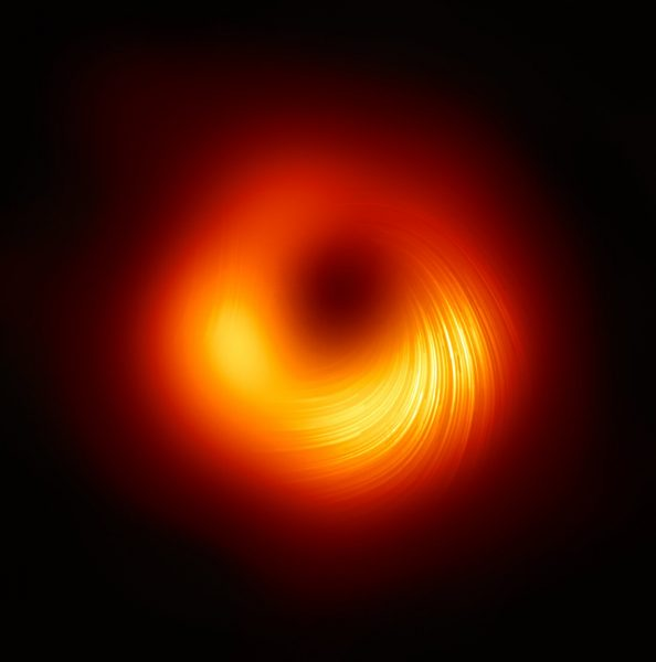 polarized gas ring around black hole