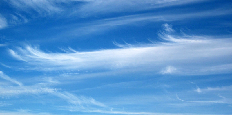 Mares' tails cirrus clouds