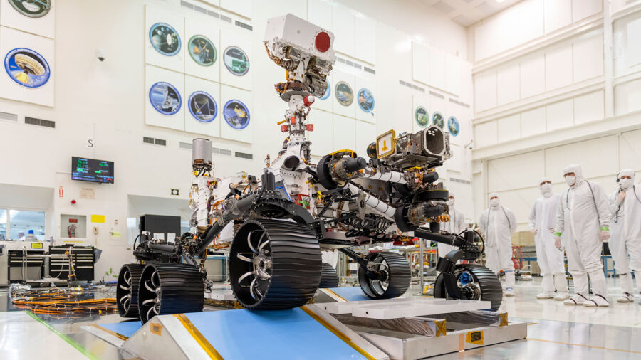 Perseverance in NASA clean room