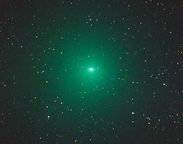 Telescopic view of Comet 252P/LINEAR