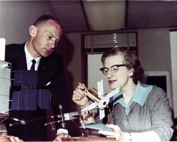 Nancy Grace Roman and Buzz Aldrin