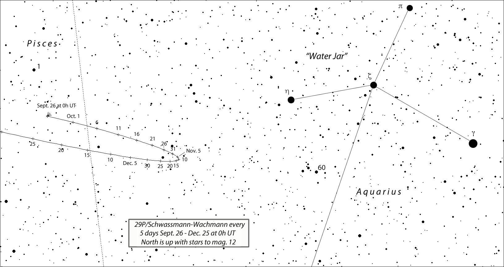 Comet pops near the Water Jar