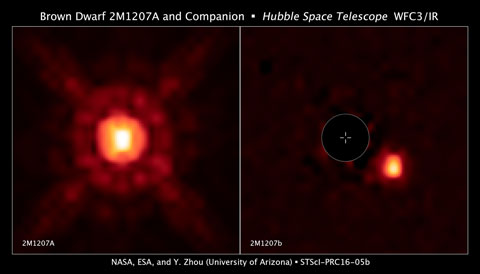 A brown dwarf and its super-Jupiter planet