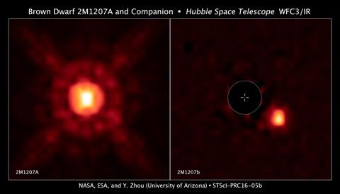 A brown dwarf and its super-Jupiter planet
