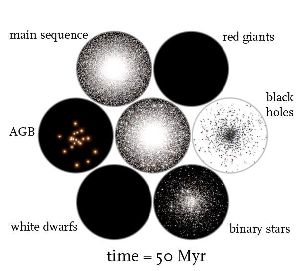 globular cluster time = 50 Myr