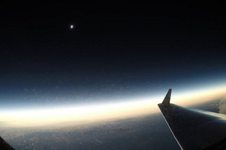 Eclipse from the air