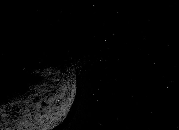 Particle plumes from Bennu