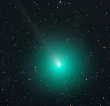 Green ornament comet