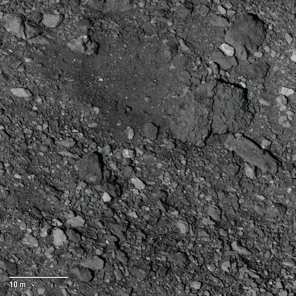 Candidate sample site on asteroid Bennu