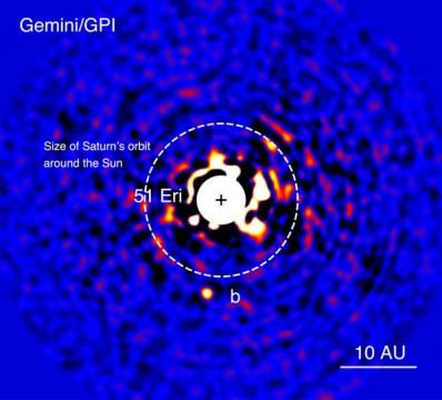 51 Eridani b discovery image