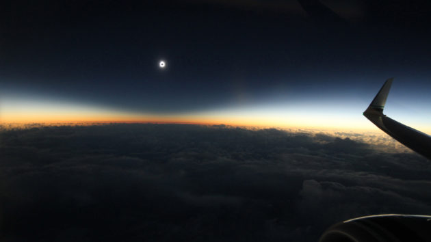 Totality seen from an aircraft in 2016