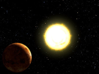 Artist's concept of 55 Cancri e
