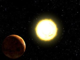 Artist's concept of 55 Cancri e