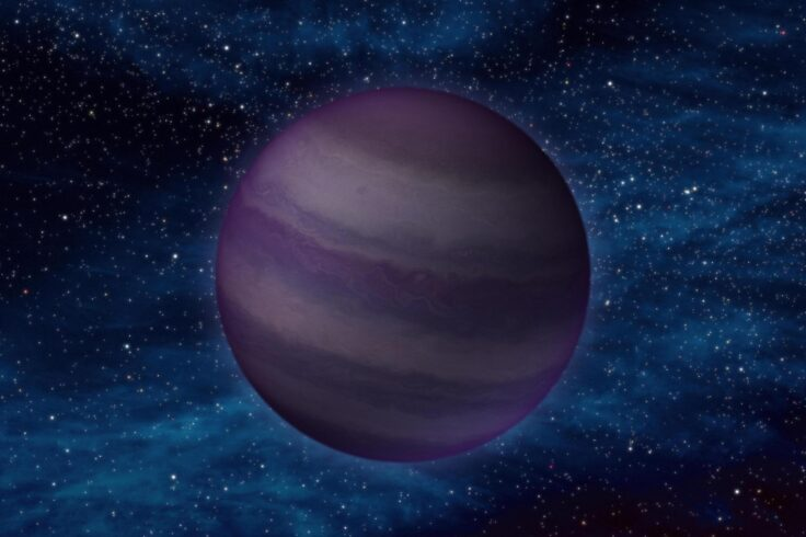 Artist's impression of a Y-dwarf star