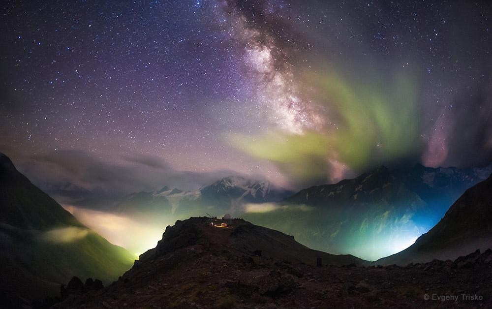 Above the Light Pollution by Evgeny Trisko
