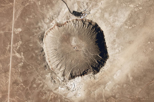 Barringer Crater aerial view