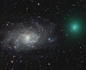 M33 and Comet Tuttle, Dec. 30, 2007
