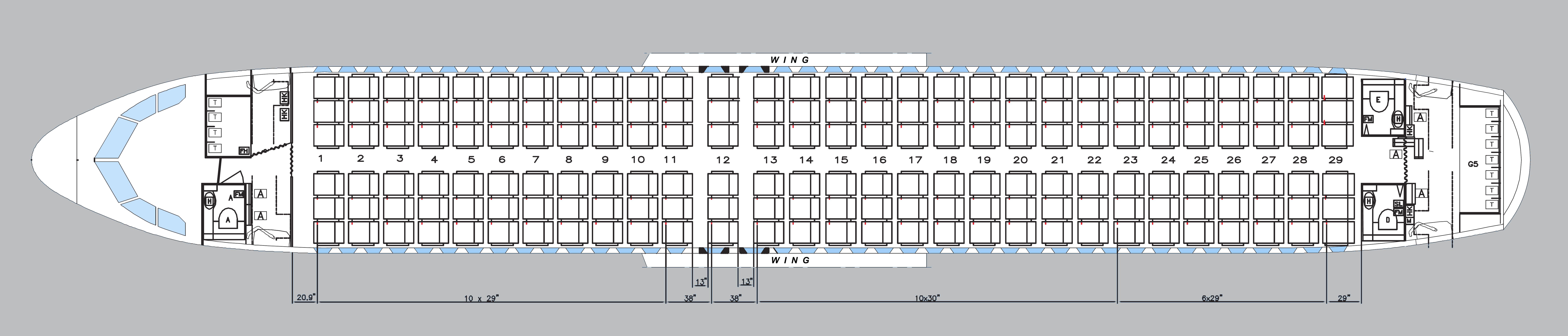 A320 cabin configuration