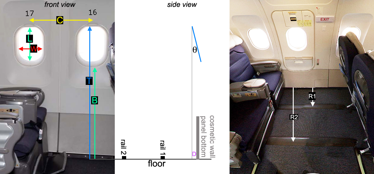 A320 window measurements