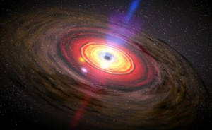 An artist's conception of an AGN. NASA / Dana Berry (SkyWorks Digital)