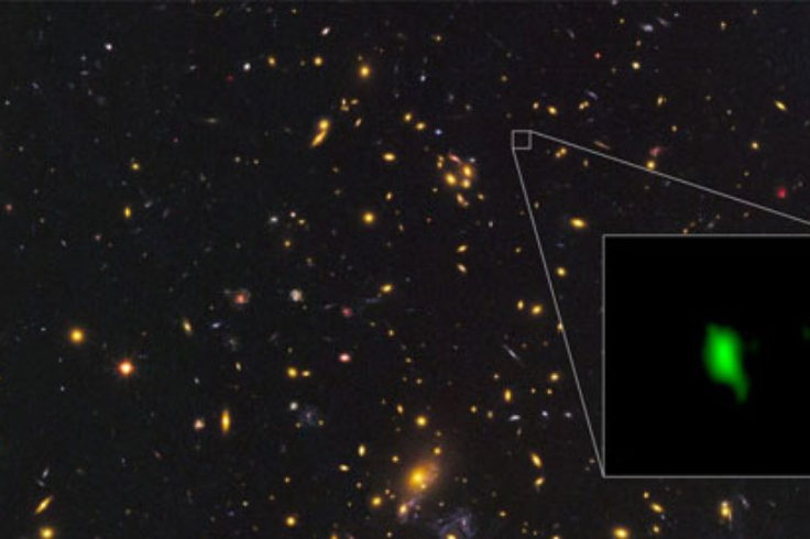Earliest star formation in a far-away galaxy