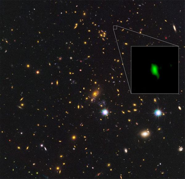 Earliest star formation in a far-away galaxy