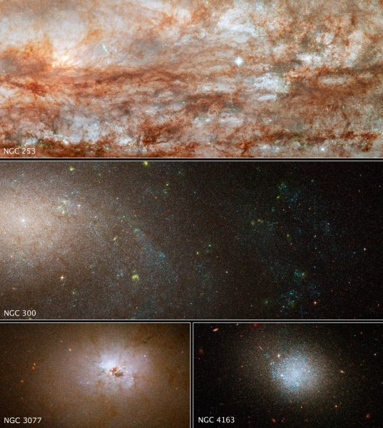 Galaxies from ANGST survey