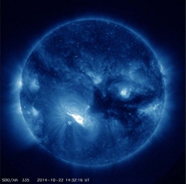 Big flare erupts on the Sun