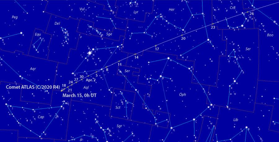 Comet ATLAS (C/2020 R4) finder chart