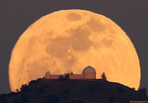 A magnificent Moon frames the Lick Observatory atop Mt. Hamilton near San Jose, Calif. in March 2012. Rick Baldridge