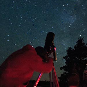 Stargazing in a national park