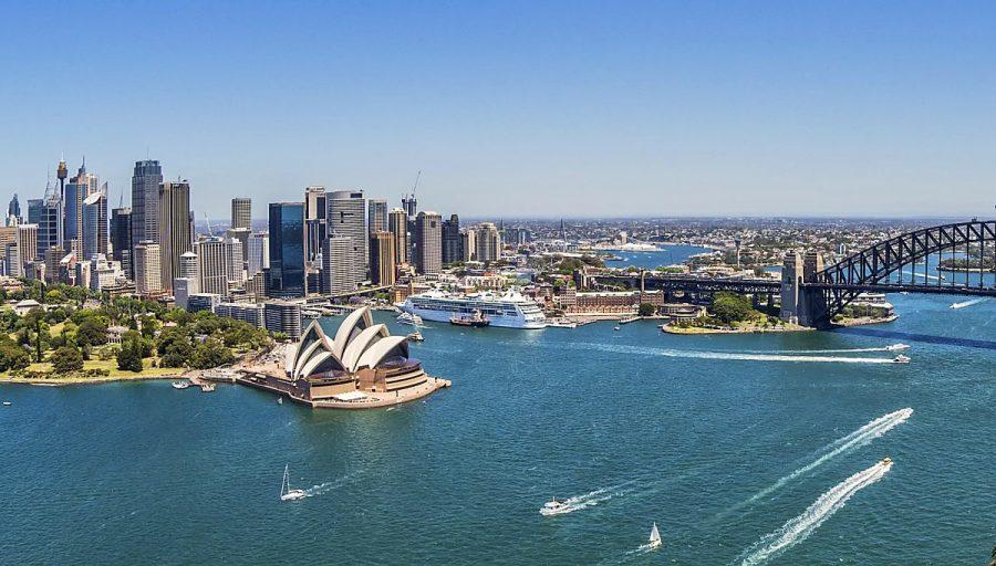 Aerial view of Sydney Harbor