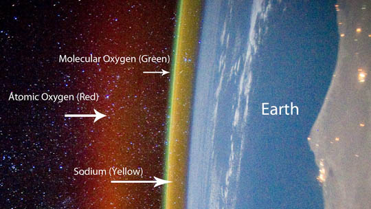 A layer cake of colorful emissions