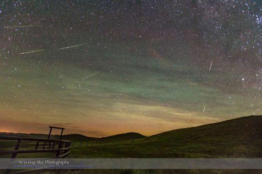 Perseid Meteors by Alan Dyer, Aug. 12, 2016