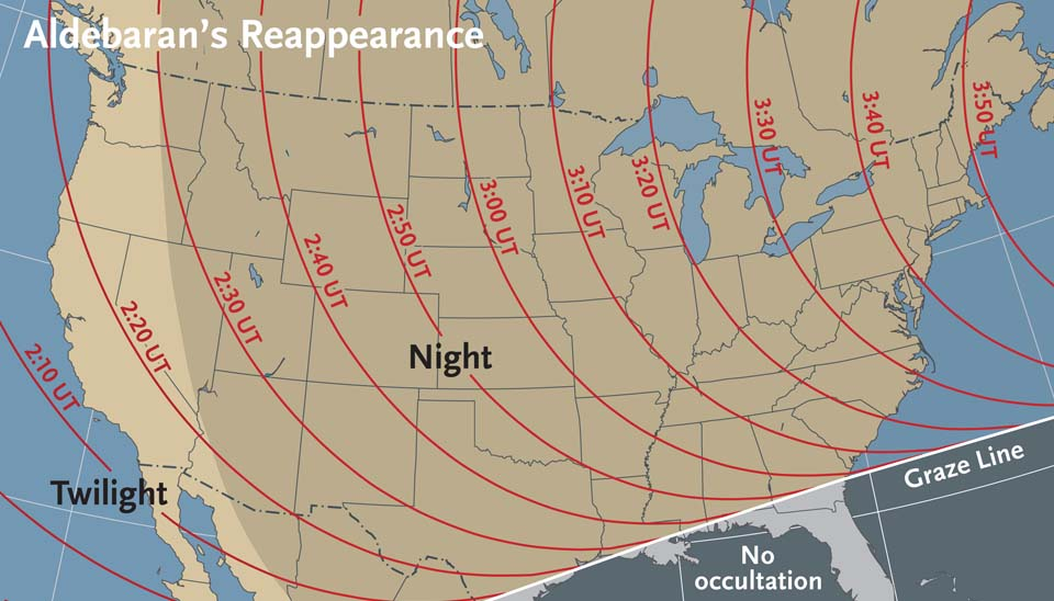 When to view Aldebaran' sreappearance