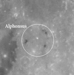 Alphonsus (center) at full Moon
