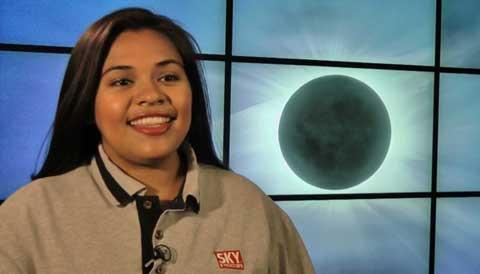Ana Aceves discusses total solar eclipse