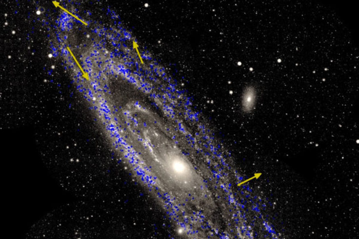 Rotation of Andromeda Galaxy