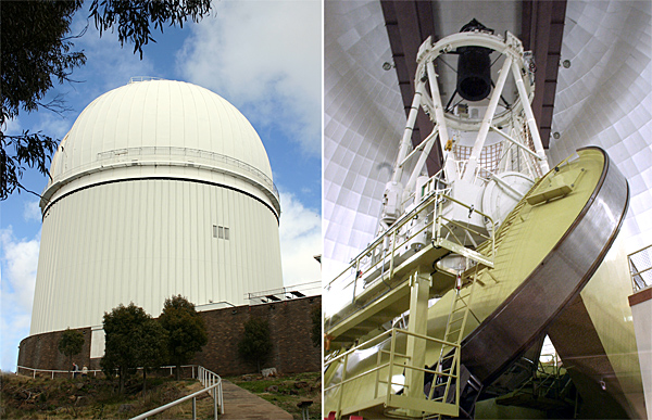 Anglo-Australian Telescope dome and reflector