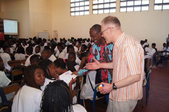Graham Jones in Angolan school