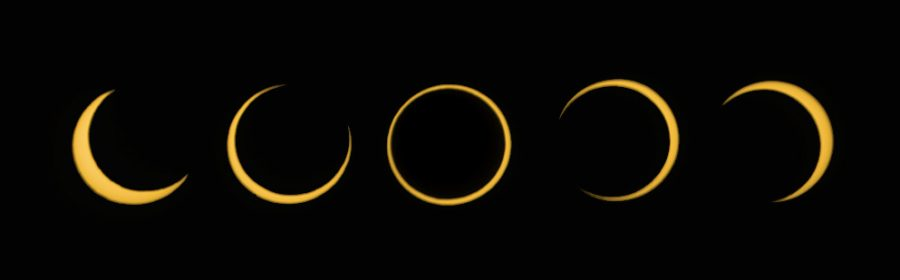 Annular eclipse sequence on June 10, 2021