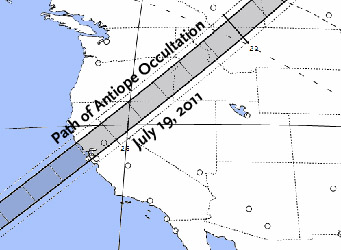 Map of Antiope occultation
