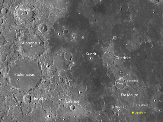 Apollo landing sites: Can you spot the golf balls?