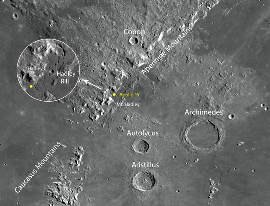 Apollo landing sites: A stroll along the rill